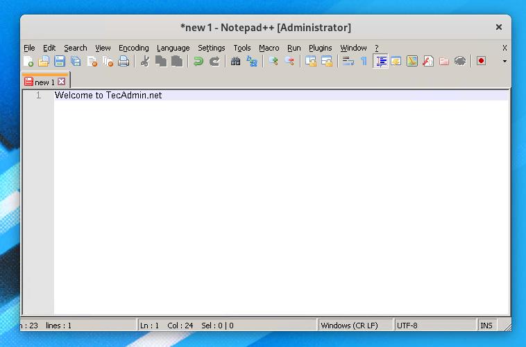 installing nodepad++ fedora