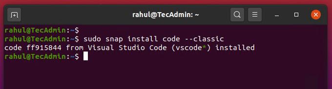 install vs code ubuntu