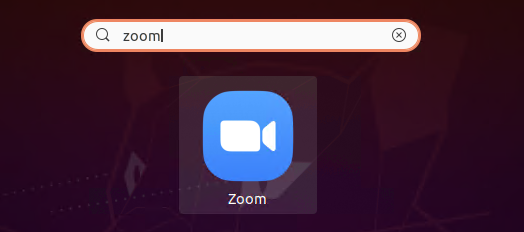 Launch zoom client on ubuntu
