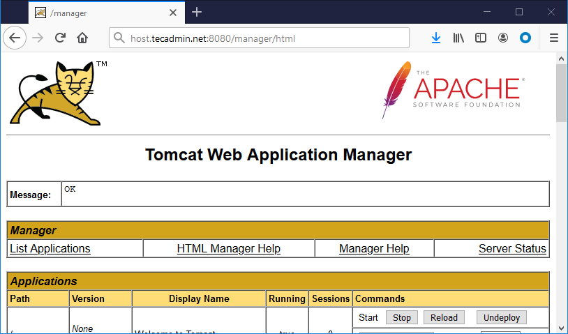 Tomcat manager access ubuntu 20.04