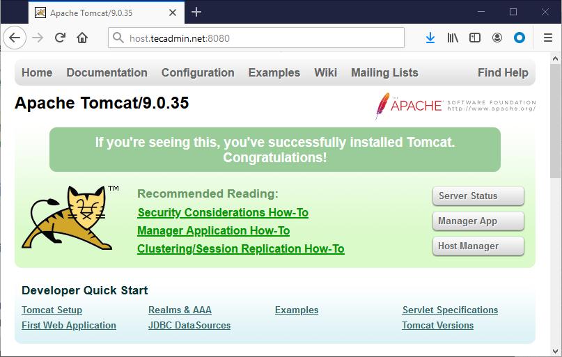 install tomcat on Ubuntu 20.04