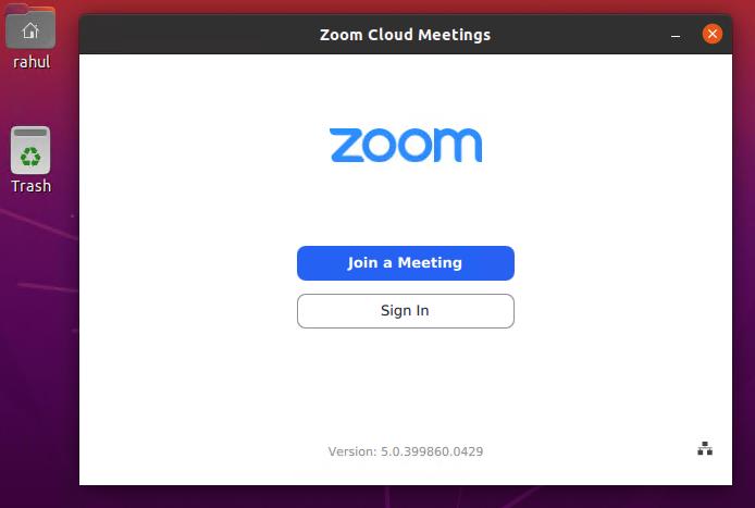 Running zoom client ubuntu