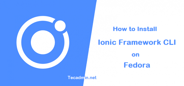 how to install ionic on fedora