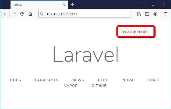 install Laravel development on CentOS 8