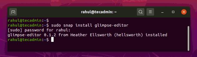 Install Glimpse on Ubuntu 20.04