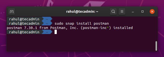 Install Postman on Ubuntu 20.04
