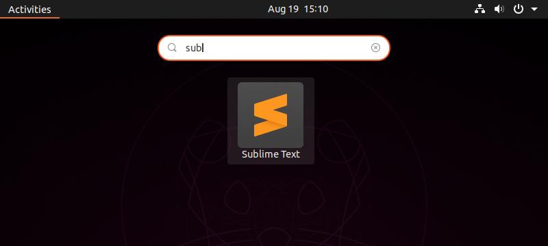 Launch sublime text on Ubuntu 20.04