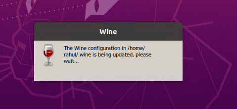 Winehq initial configuration