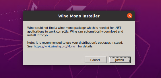 Winehq install mono