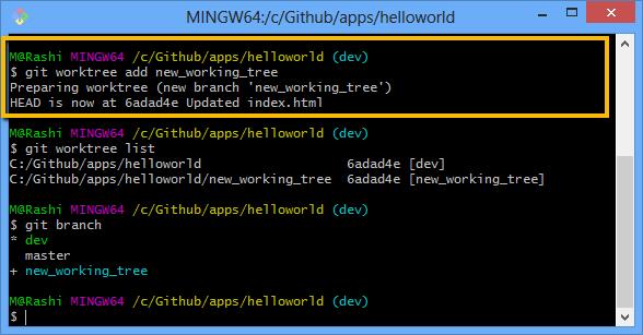 Git create new worktree
