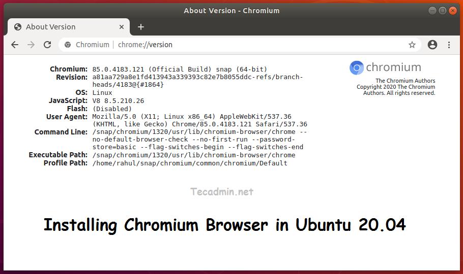 How to Install Chromium Browser on Ubuntu 20.04