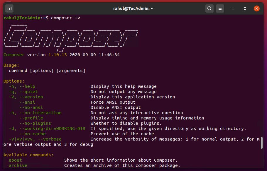 Install php composer on Ubuntu 20.04