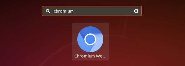 launch chromium browser ubuntu on Ubuntu 18.04