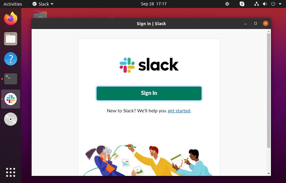 Running Slack on Ubuntu 20.04