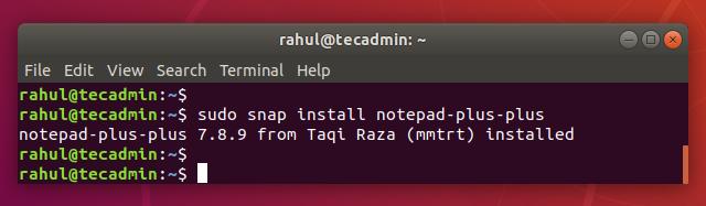 Installing Nodepad++ on Ubuntu 18.04