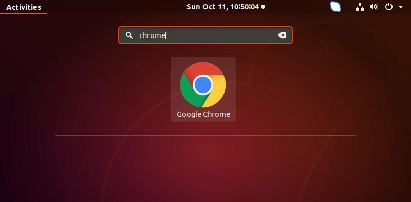 Launch Chrome Application Ubuntu 18.04