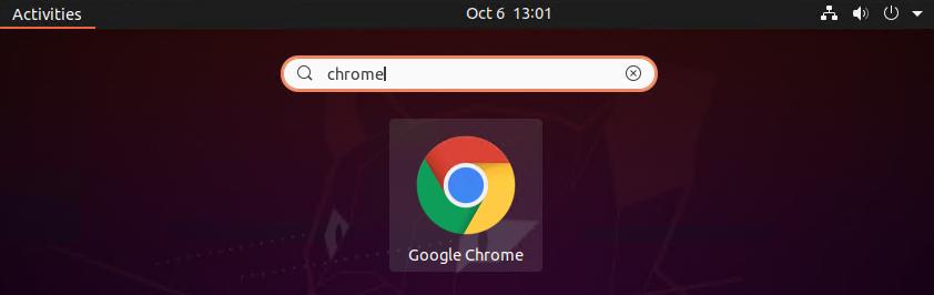 Launch Google chrome on Ubuntu 20.04