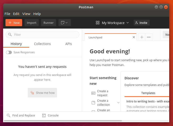 Running Postman on Ubuntu 18.04
