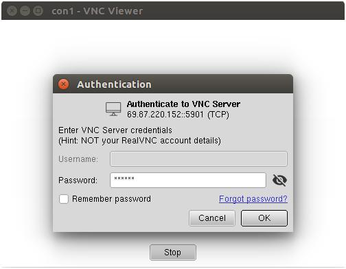 Connect vnc server