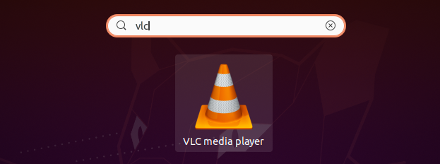 Launch  vlc on ubuntu 20.04