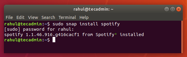 Install Spotify on Ubuntu 18.04