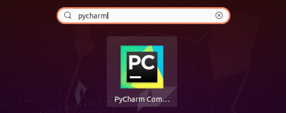 Launch pycharm on Ubuntu 20.04