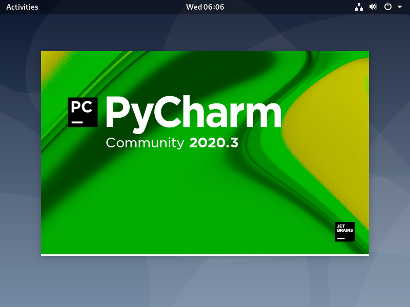 Starting pycharm debian