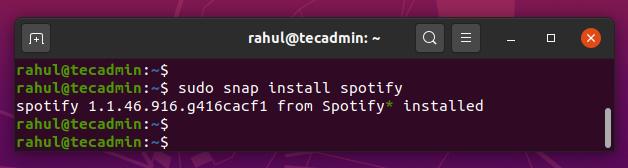 snap install spotify ubuntu 20.04