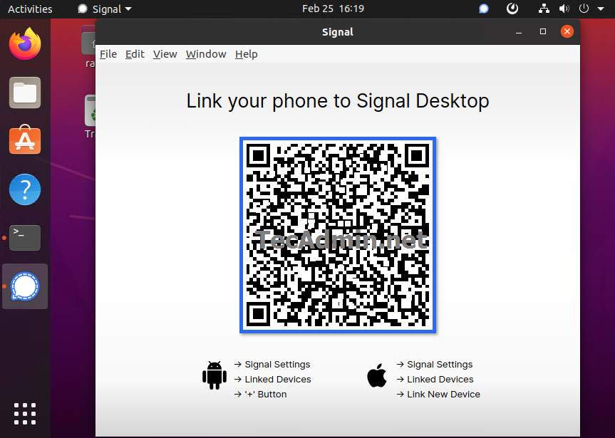Installing Signal desktop on Ubuntu 20.04