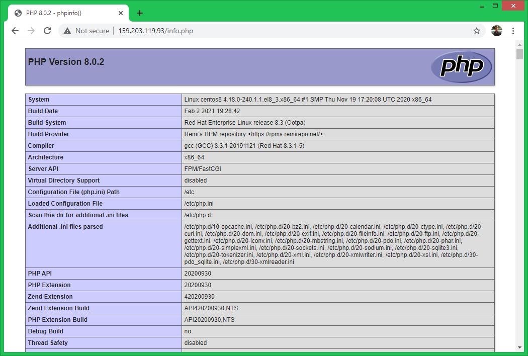 Installing PHP 8 on CentOS/RHEL 8