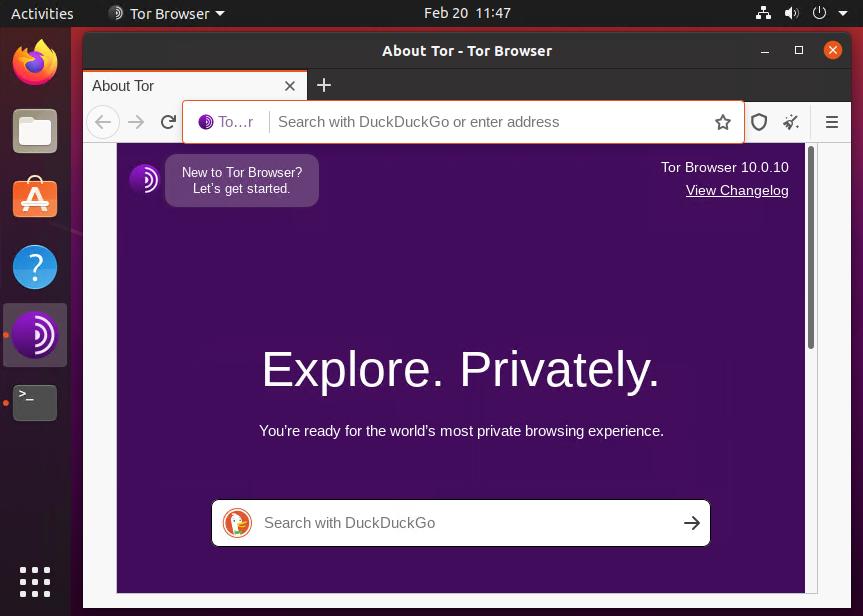 Installing Tor browser on Ubuntu 20.04