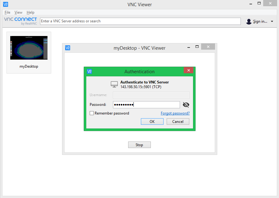 Connect to Vnc Server