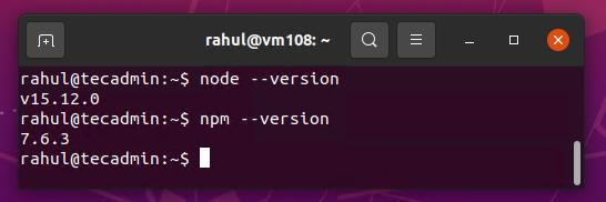 install nodejs for Gulp
