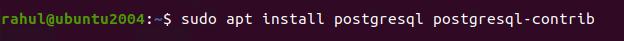 Installing PostgreSQL in Ubuntu 20.04