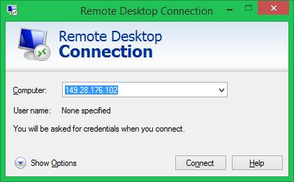 Connect to Fedora Remote Desktop