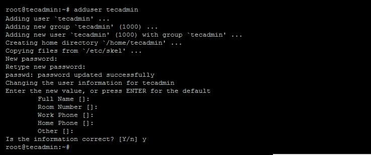 Initial serer setup debian - create sudo user