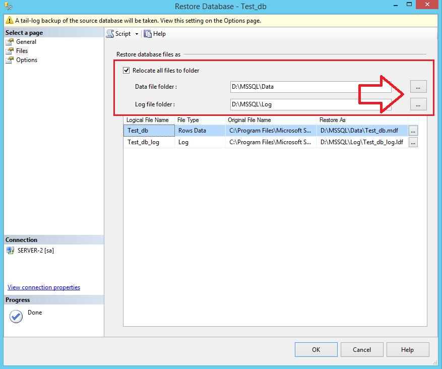 Restore Database in SQL Server