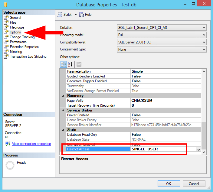 SQL Server restrict access to single user