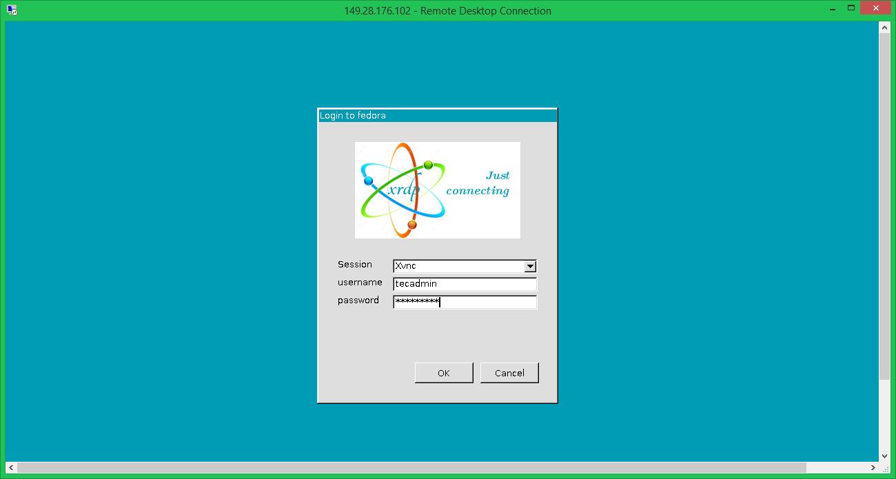 Authenticate Fedora on XRDP Remote Desktop