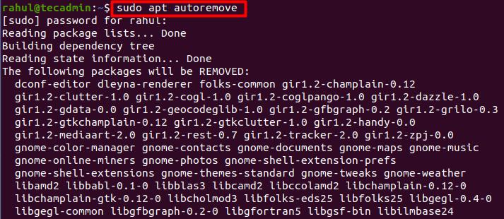 Auto remove ubused packages on Ubuntu