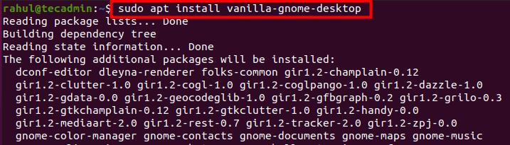 Install new desktop in Ubuntu