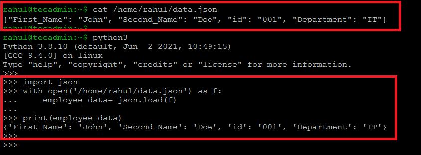 Python Read JSON File