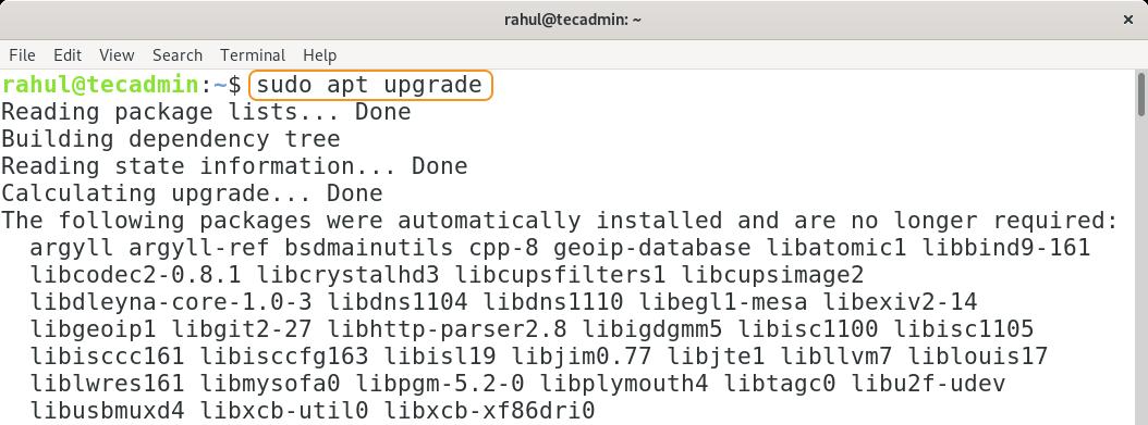 Apt update packages list for Debian 11
