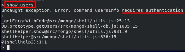MongoDB Authorization Error