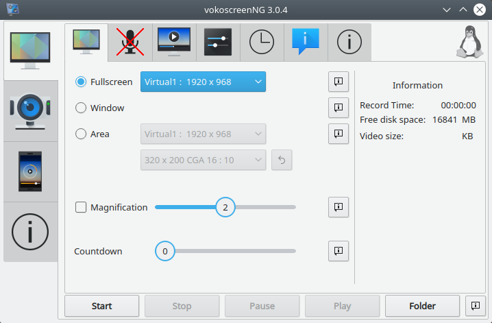 VokoscreenNG Screen Recorder for Linux